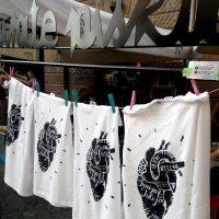 Delavnica tiskanja na majice v Centralni postaji (2016)