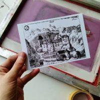 Delavnica tiskanja Valvasorjevih grafik v Layerjevi hiši (2015)